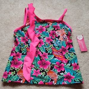 Girls floral design tankini
